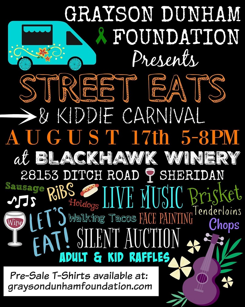Grayson Dunham Foundation presents Street Eats & Kiddie Carnival at Blackhawk Winery
