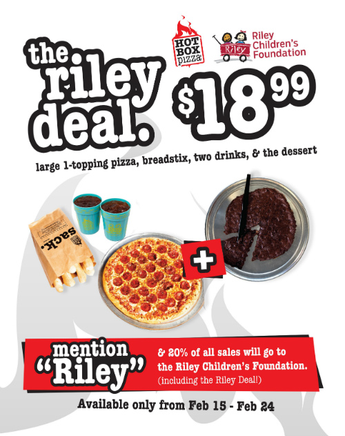 HotBox Pizza Meal Deal - Riley Children's Foundation