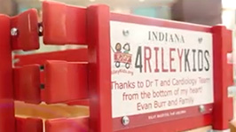 I am the Riley Wagon. I mean a lot of things to different people. I'm also a way for donors, like the Burr family, to give back to Riley Hospital for Children.