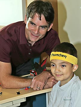Jeff Gordon Children's Foundation actively supports pediatric cancer research at Riley Hospital for Children