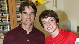 Jeff Gordon Strikes It Big for Kids with Cancer at Riley Hospital