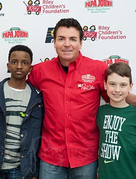Papa John at Riley Hospital