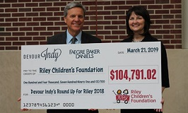 Faegre Baker Daniels' hunger to help is part of what inspired them to come aboard as the initial presenting sponsor of Devour Indy, building a charitable component to support Riley Children's Foundation, allowing diners to direct funds to the Foundation at participating restaurants.