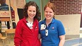 Elizabeth Carter, RN, and Certified Child Life Specialist Abigail Rainey